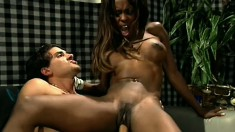 Black babe demands to have her snatch licked before it gets dicked