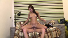 Fresh tight teen from Europe gets her young ass fucked balls deep