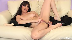 Dana DeArmond loves to play with her butthole until it gapes