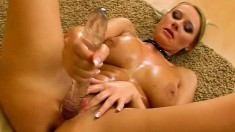 Curvaceous Blonde Beauty Enza Explores Her Passion For Big Sex Toys