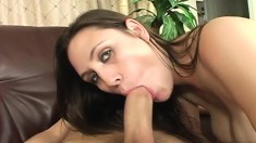 Voluptuous Rucca can't get enough of a hard prick exploring her pussy