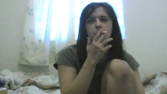 Stacked Brunette Hooker Fingers Her Fiery Pussy And Blows A Big Prick
