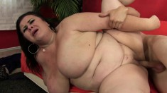 Chubby Brunette Mom Uses The Art Of Seduction To Enjoy A Young Cock