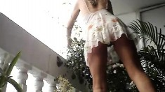 Upskirt Jerk Chloe Toy Filthy Cheerleader