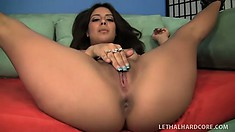Enticing young Latina with a perfect ass and amazing tits loves to get fucked rough