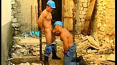 Construction workers with amazing bodies enjoy lots of hardcore anal action