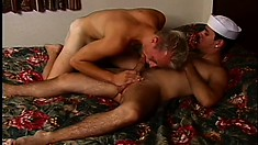 Horny sailors head straight for the hotel for hot gay sex on leave