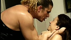 Dominant tranny gets a wife for her slave and smacks, whips and chokes her