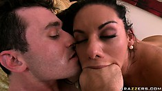 Busty babe Bella Reese slammed hard and jizzed upon her face