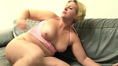 Slutty chubby MILF slammed hard by a black cock in a hot mature interracial fuck