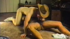 Muscular cowboys get nasty with some balls deep sucking and fucking