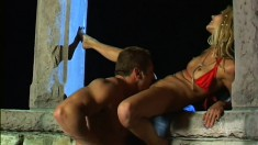 Beautiful blonde with a sexy slim body loves to get nailed doggy style