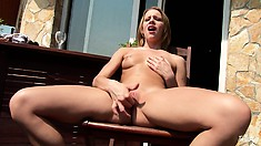 Bad girl on the balcony getting sun on that already hot ass pussy