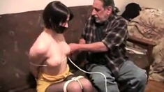 Amateur Brunette In Stockings Luscious Pussy Fuck