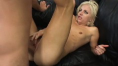 Angela Stone sucks Andrew Andretti's rod and gets her slit pumped