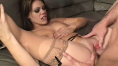 A natural born whore gets taught a nasty lesson in assfucking
