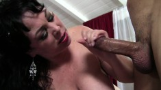 Alexis Couture shows off her huge boobs while getting nailed