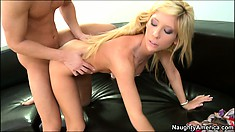 Tasha invites him to bang her pussy from behind and give her the pleasure she seeks