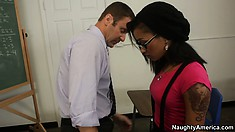 Skin Diamond arrives at her office to find sex pest wants to cause trouble