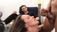 Kinky husband loves to watch his gorgeous wife fucking a hung stranger
