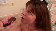 Busty wife enjoys a black monster cock