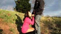 German Amateur Couple Outdoor Creampie