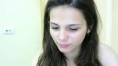 young shy girl on cam