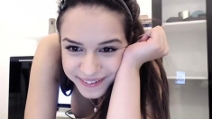 Solo Teen Amusing On Webcam