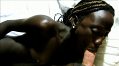 Ebony African Queen Fucks a Big White Cock BWC