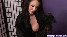 Bosomy vixen desires to completely exhaust this vigorous cum-stick