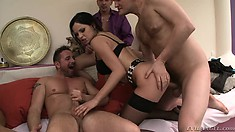 Smoking hot bisexual bitches get drilled during a hardcore orgy