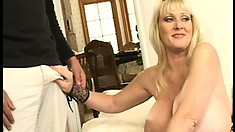 Kayla and a nasty slut with huge tits who fingers her pussy and pees