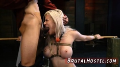 Hard bdsm gangbang xxx Big-breasted ash-blonde sweetheart