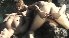All the pussies in this video get deserved portion of licking and fucking