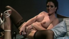 Three gorgeous lesbian babes with a thing for anal get busy together